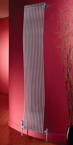 rimini wave tube designer radiator. Colour shown RAL 9016