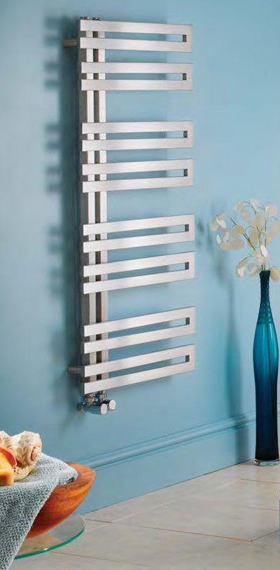 genova offset stainless steel towel warmer