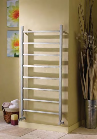 genova straight stainless steel towel warmer