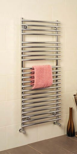 pavia tube on tube towel warmer