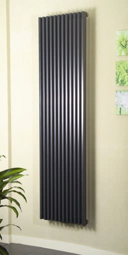 bassano vertical contemporary designer radiator. Colour shown - RAL 7016