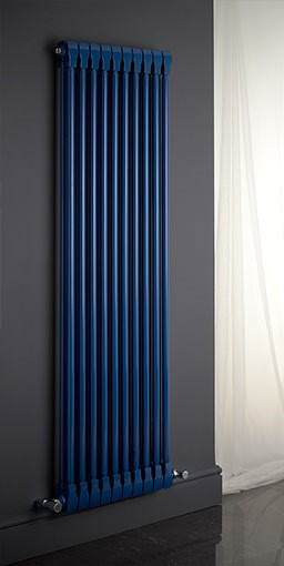 Monza aluminium vertical column radiator. Colour shown RAL 5010