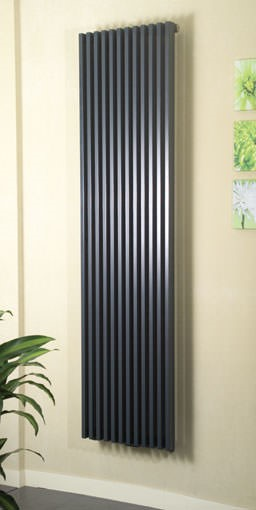bassano anthracite contemporary designer radiator. Colour shown - RAL 7016
