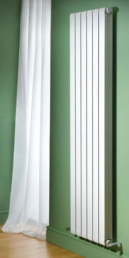 modena vertical aluminium radiator. Colour shown RAL 9016