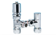 ITALIAN LUXURY POLISHED CHROME TRV SET CHROME HEAD