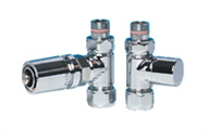 ITALIAN LUXURY POLISHED CHROME TRV SET CHROME