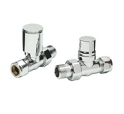 ITALIAN CONTEMPORARY CHROME VALVES SET