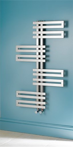 genova wave stainless steel towel warmer