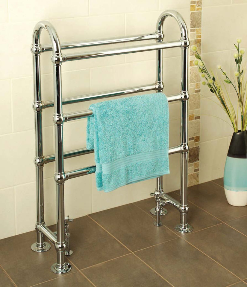 Ravenna traditional towel warmer for Electric heated towel rails for bathrooms