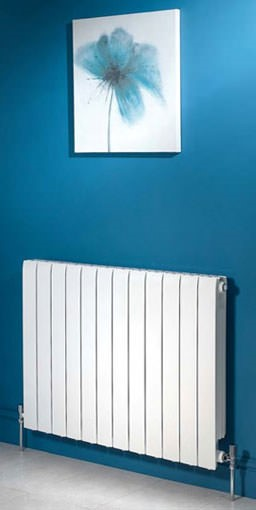 modena horizontal aluminium radiator. Colour shown RAL 9016