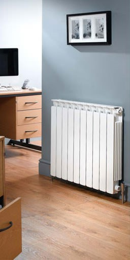 modena flat aluminium radiator. Colour shown RAL 9016